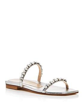 Stuart Weitzman - Women's Aleena Embellished Slide Sandals