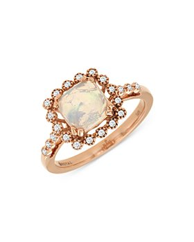 Bloomingdale's - Opal & Diamond Accent Ring in 14K Rose Gold - 100% Exclusive