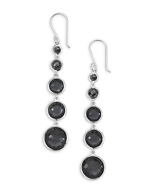 Ippolita STERLING SILVER LOLLIPOP HEMATITE LOLLITINI DROP EARRINGS