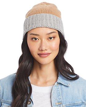 AQUA - Colorblock Knit Hat - 100% Exclusive
