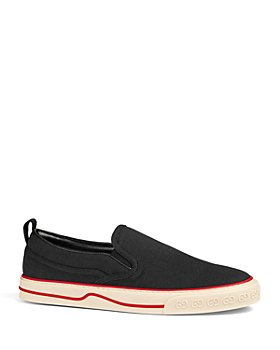 Gucci - Men's Gucci Tennis 1977 V Suede Slip On Sneakers