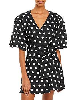 Faithfull the Brand - Godiva Polka Dot Wrap Dress