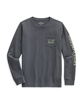 Vineyard Vines - Boys' Long Sleeve Glow in the Dark Tee - Little Kid, Big Kid