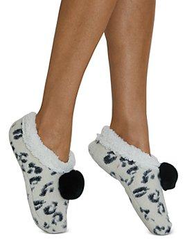 Cejoli - Snow Leopard Faux Fur Slippers