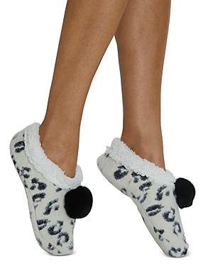 Snow Leopard Faux Fur Slippers