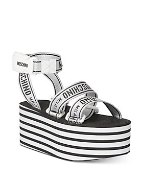 Moschino - Women's Logo Ribbon Platform Sandals
