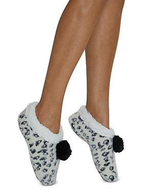 Snow Cheetah Faux Fur Slippers