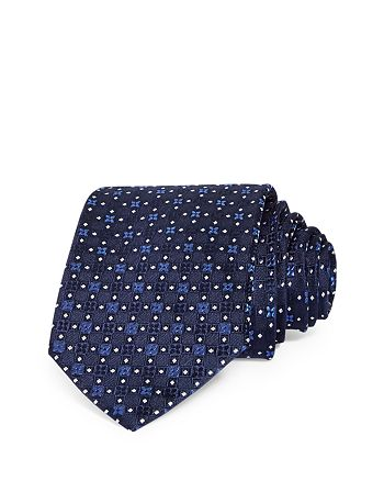 The Men's Store at Bloomingdale's - Medallion Dot Neat Silk Classic Tie - 100% Exclusive