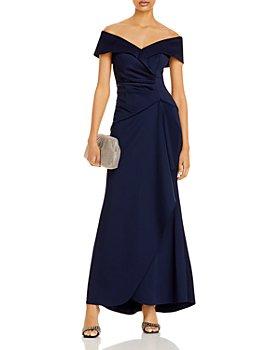 AQUA - Off-the-Shoulder Scuba Gown - 100% Exclusive
