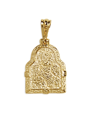 Framed Mary Pendant Necklace in 14K Gold Plated Sterling Silver