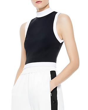 Alice and Olivia Mory Color Blocked Crop Top