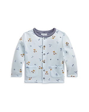 RALPH LAUREN POLO POLO RALPH LAUREN BOYS' COTTON REVERSIBLE SNAP CARDIGAN - BABY