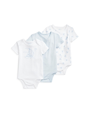 RALPH LAUREN POLO RALPH LAUREN BOYS' 3 PC COTTON BODYSUIT SET - BABY