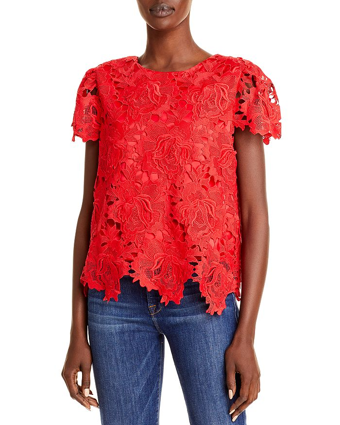Milly Tops FLORAL LACE TOP