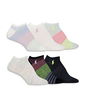 Ralph Lauren - Color Blocked Mesh Ankle Socks, Set of 6