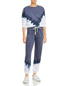 AQUA - Chevron Tie Dye Sweatshirt & Chevron Tie Dye Sweatshirt