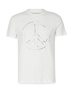 John Varvatos Star USA - Embroidered Peace Sign Graphic Tee