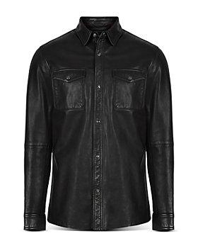 John Varvatos Star USA - Lionel Leather Slim Fit Shirt