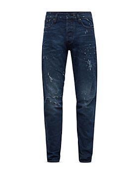 G-STAR RAW - Scutar 3-D Slim Fit Tapered Jeans in Worn In Taint Destroyed