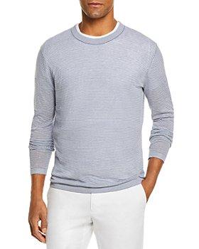 The Men's Store at Bloomingdale's - Linen Cotton Crewneck Sweater - 100% Exclusive