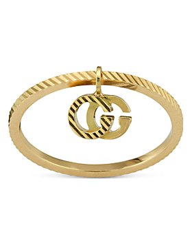 Gucci - 18K Yellow Gold Double G Charm Ring