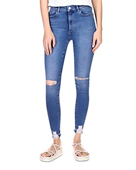 DL1961 - Farrow Instasculpt Skinny Ankle Jeans in Rip Tide Distressed