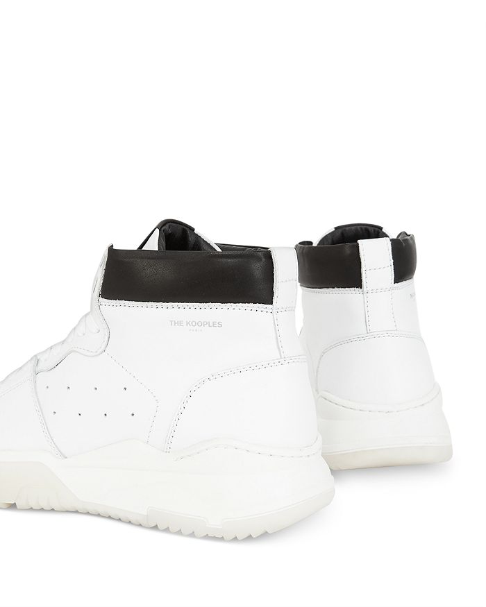 THE KOOPLES Leathers MEN'S LEATHER HIGH-TOP SNEAKERS