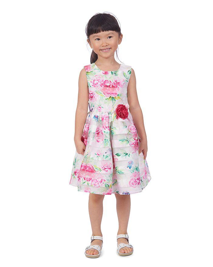 PIPPA & JULIE Dresses GIRLS' FLORAL BUTTERFLY DRESS - LITTLE KID