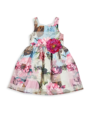 Pippa & Julie GIRLS' FLORAL BUTTERFLY DRESS - BIG KID