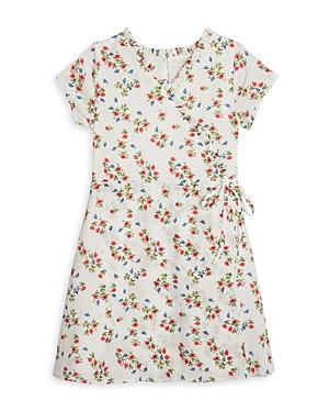 Pippa & Julie Girls' Floral Faux Wrap Dress - Big Kid