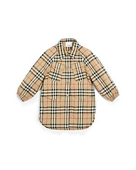 Burberry - Girls' Teigen Vintage Check Shirt Dress - Little Kid, Big Kid