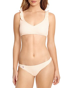 Polo Ralph Lauren - Striped Seersucker Bralette Bikini Top & Striped Seersucker Devin Bikini Bottom