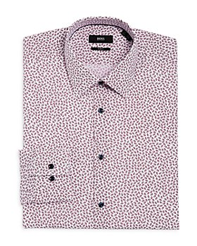 BOSS - Jano Leaf Print Slim Fit Dress Shirt