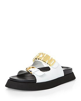 Moschino - Women's Logo Slide Platform Sandals