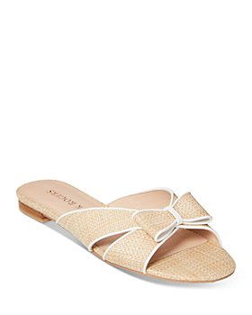 Jack Rogers - Women's Gigi Rattan Bow Slide Sandals