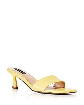 AQUA - Faux Leather Mule Sandals - 100% Exclusive