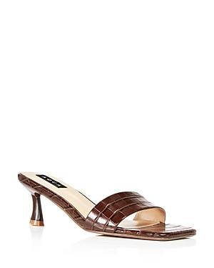 Aqua Faux Leather Mule Sandals - 100% Exclusive