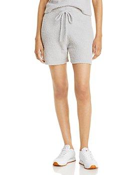 AQUA - Fuzzy Drawstring Shorts