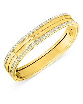 Roberto Coin - 18K Yellow Gold Portofino Diamond Bangle Bracelet