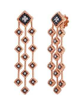 Roberto Coin - 18K Rose Gold Palazzo Ducale Black & White Diamond Chandelier Earrings