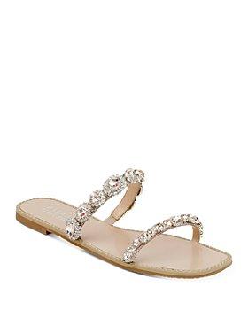 Badgley Mischka - Women's Reed Slip On Embellished Sandals