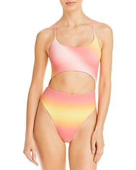AQUA - Ombré Cutout One Piece Swimsuit - 100% Exclusive