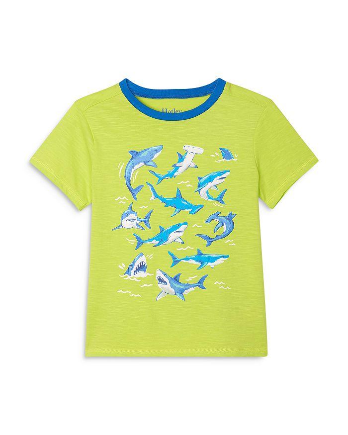 Hatley Boys' Cotton Shark Graphic Tee - Little Kid, Big Kid In Green