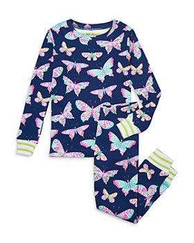 Hatley - Girls' Organic Cotton Delightful Butterflies Printed Pajama Set - Little Kid, Big Kid