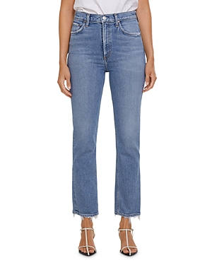 Agolde Wilder Straight Ankle Jeans in Cascadia
