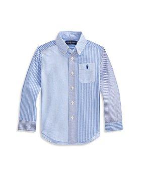 Ralph Lauren - Boys' Multi Striped Seersucker Shirt - Little Kid, Big Kid