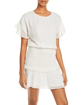 AQUA - Clip Dot Ruffled Mini Dress - 100% Exclusive