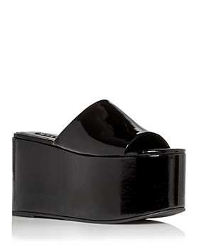 SIMON MILLER - Women's Blackout Vegan Platform Slide Sandals