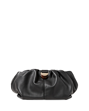 Analeigh Small Gathered Leather Clutch