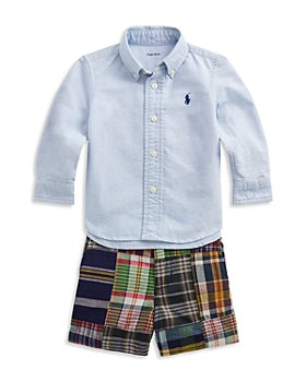 Ralph Lauren - Boys' Shirt and Plaid Shorts Set - Baby